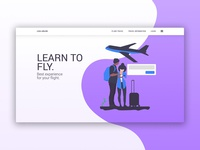 Loka Airline - Landing page