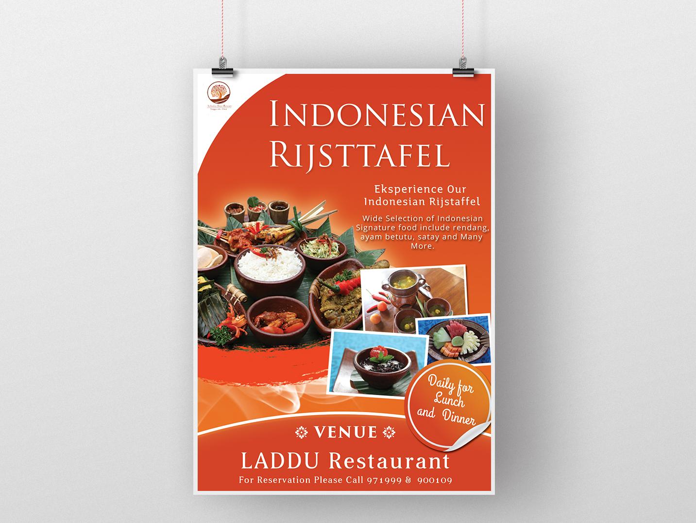 Poster Design Food Menu Indonesian Risjttafel photoshop poster industrial poster design industrial design food poster indonesian restaurant poster advertising design advetising poster advertising flyer