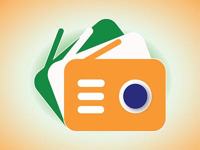 One India Radio App Icon logo icon radio fm