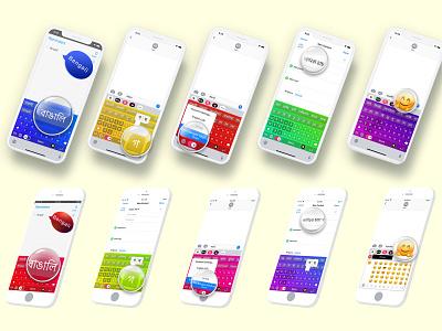 App store mockup screen uiux design mockup keyboard