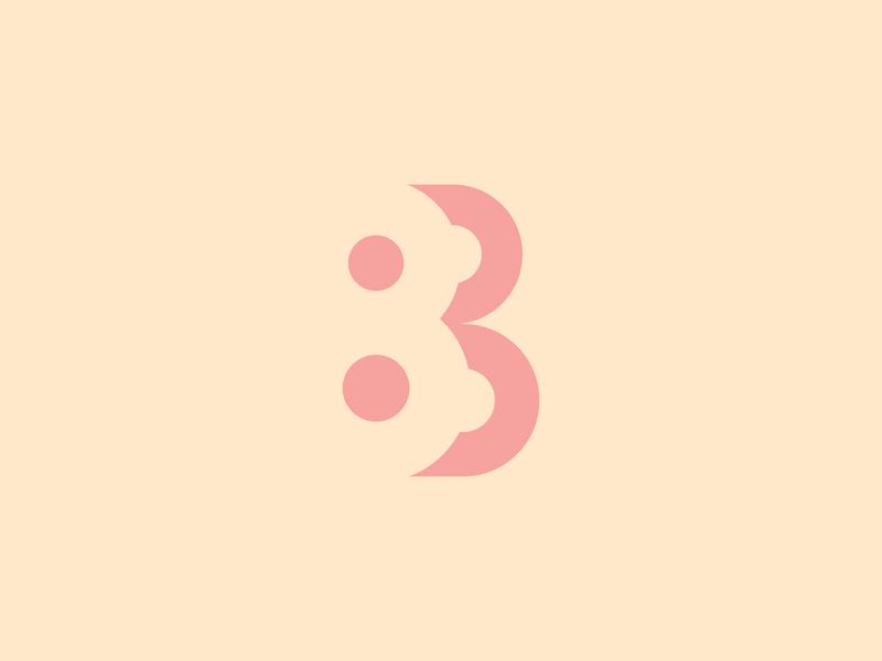 8B Logo Negative