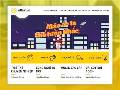 Inthun.Vn Website Design tshirtbrand uxdesign uidesign icon design ui website design