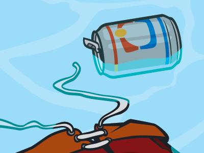 Molson illustration vector beer can water shorts
