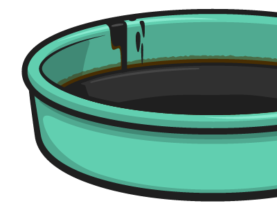 Oil illustration vector oil pan