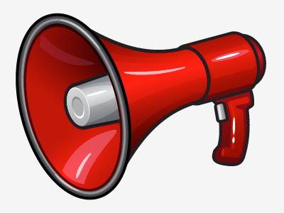 Red Megaphone illustration vector megaphone