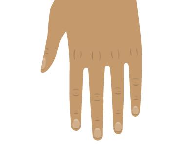 Fingers illustration vector hand fingers