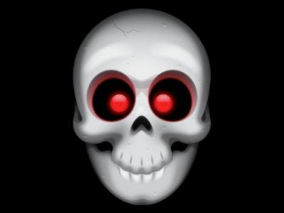 Cute Skull illustration vector psd skull