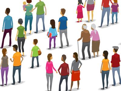Crowd illustration vector people crowd