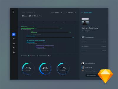 Task progress dashboard web stats graph ui ux user interface user experience interface data analytic sketch digital dashboard metrics account