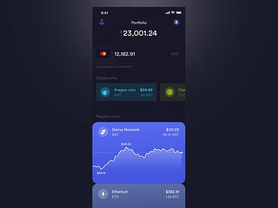 BRD application concept bitcoin crypto wallet bread