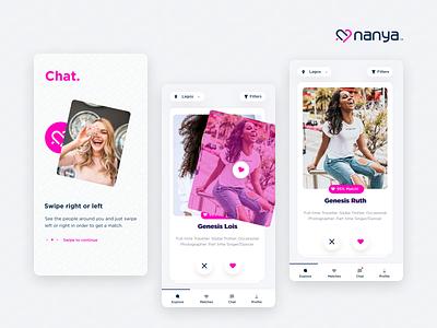 Nnaya Dating App ux ui app ui design product uiux design app figma figmadesign product design ui design mobile app andriod dating app
