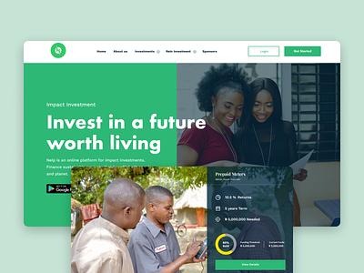 Nigeria Electricity Investment portal electricity investment crowdfunding invest webdesign website