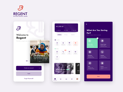 Regent Regent Microfinance Bank (Mobile) finance microfinance fintech solution adobe xd ux figma design product app ui design