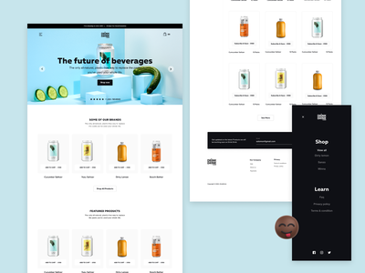 Drink Drink (E-Commerce) drinks app ui design figma ui e-commerce