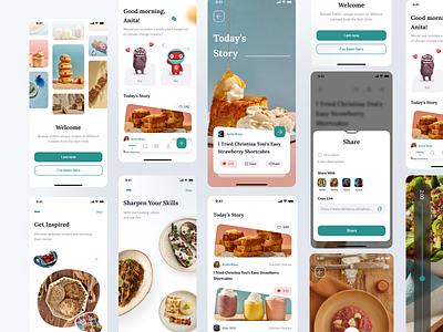 Food & Recipe Cooking App uiux app food design ui figma product app ui design