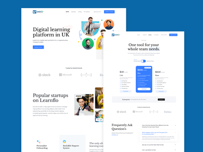 Digital Learning Platform branding ui ux design uiux product figma app ui design learning