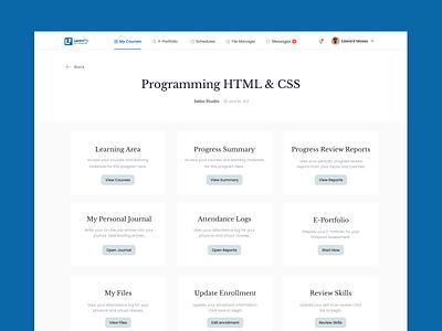 Digital Learning Platform e-learning ui ux design uiux product figma app ui design