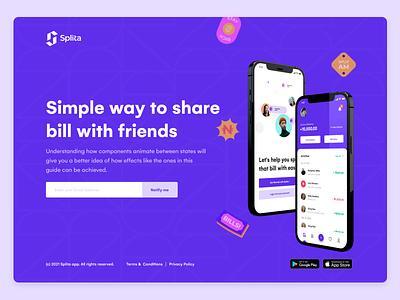 Coming soon.... fintech split bill ux ui design uiux product figma app ui design