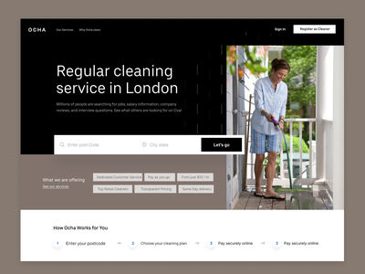 Cleaning Service product design ui ux services landing page cleaning design uiux product figma app ui design
