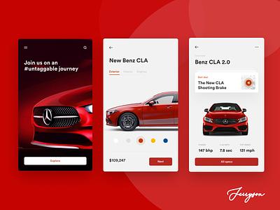 Benz-shot benz uiux product figma app ui design ui