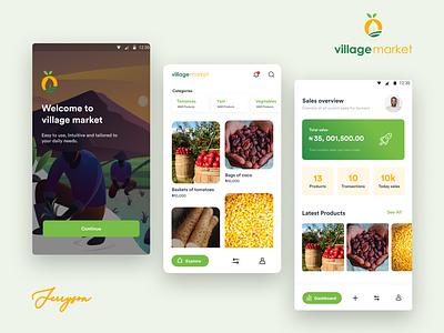 Village market figma design product uiux app ui design