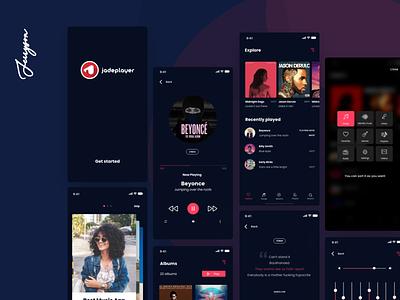 Jadeplayer Music App design ux music app music