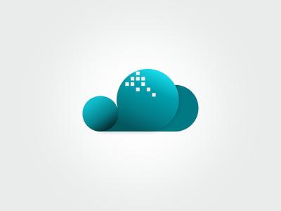 Digital Cloud Logo logo cloud digital icon service sky blue
