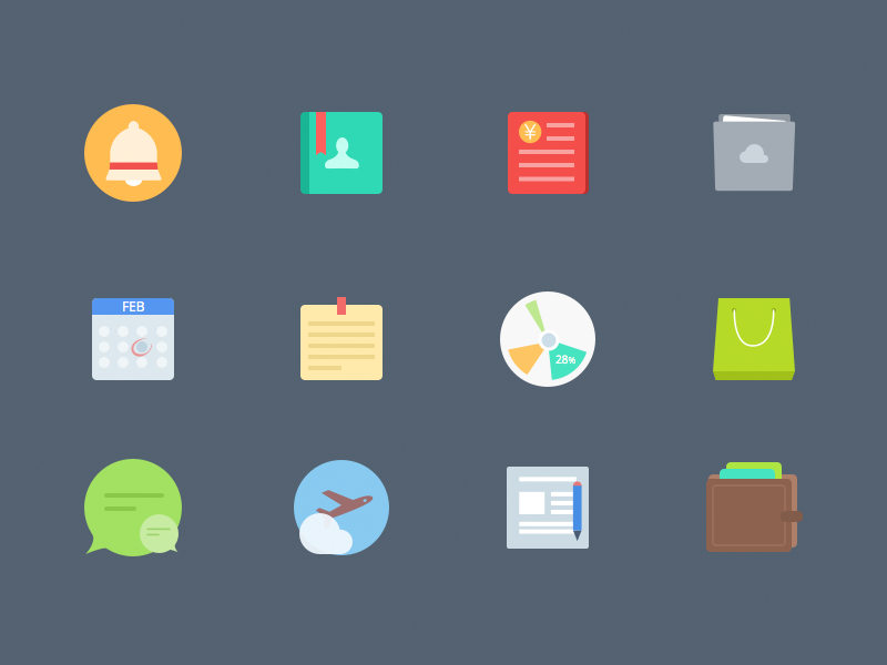 Free Colorful Flat icons by sketch free download colorful flat icon icons business hr .sketch flat icon