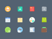 Free Colorful Flat icons by sketch