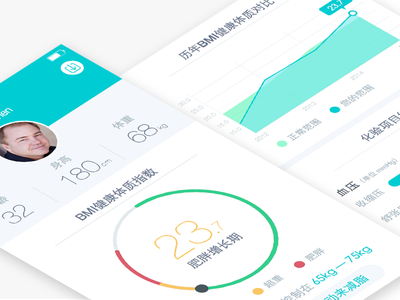 Health Report ui ux health report date bmi china chinese person