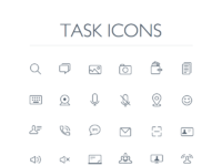 Task icons all