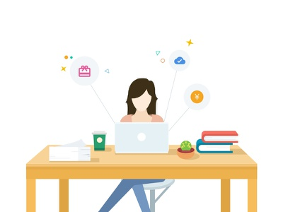 Web illustration About Management management service art fun illustration flat web