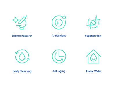 Healthy Nutrition Icons Set