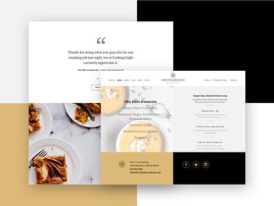 Truffleberry Market Website logo website design and development webdesign catering food menu page site web webpage food restaurant menu branding website ui design simplicity simple clean