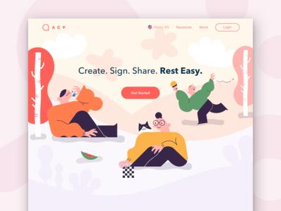 Illustrative Landing Page