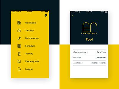 Minimal Mobile Interface details navigation menu navigation menu application minimalist minimalism application branding ux design ux  ui ux flat design minimal flat vector ios iphone mobile app simple