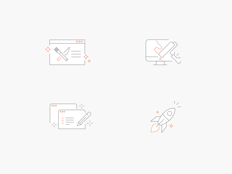 Thin Line Icons simplicity sharp line icons line thin icon set icon icons illustration design simple clean