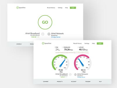 SpeedTest landing page internet speedtest