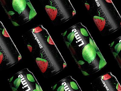 Lime Soda – Branding brand identity visual identity 3d illustation branding brand design design can soda