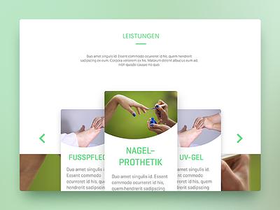 Perfect Feet 4U - Web design web design graphic ui website adobe xd ux card design