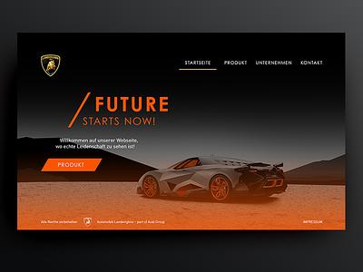Lamborghini Egoista – Web UI black shot web website webdesign ui ps orange lamborghini hompage design