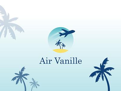 Air Vanille Logo illustrator branding typography logotype vector brand identity brand design design logodesign logo