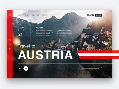 Travel Guide Austria - Web Design modern ui website travel austria userinterface uiux ui adobexd illustrator web design webdesign