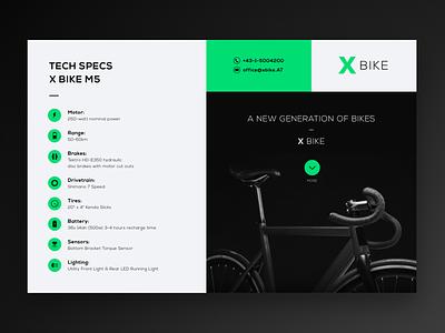 X BIKE – UI Design Concept website design ui adobexd illustrator green electric bike bicycle bike concept web user interface uiux uidesign