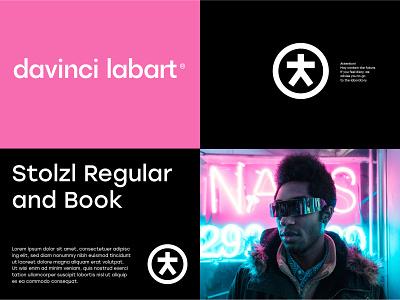 Davinci Labart pink agency vitruvian design black russia symbol type circle branding geometry logotype logo typography identity innovators future