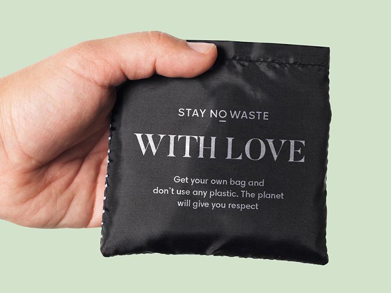 Stay No Waste love noplastic eco branding identity logo bag zerowaste
