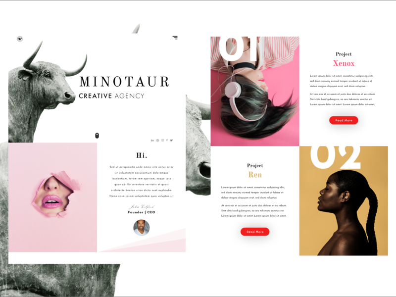 Minotaur Design Agency By Web Craft Ke Dribbble Dribbble