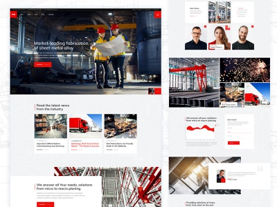 STAL- Main Home industrial elementor industry blog website digital modern branding ui ux theme design web wordpress