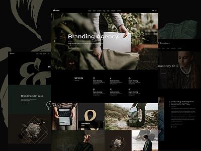 Overton web typography mikado-themes modern creative agency portfolio moody theme wordpress design ux  ui