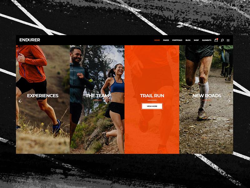 Endurer - Event Home running sport ux ui design sports theme webdesign wordpress athletics running club runner outdoors activity fitness jogging mikado-themes creative ux  ui lifestyle